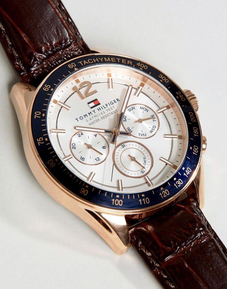 47902836b Tommy Hilfiger Luke leather strap watch 1791118   Products   Tommy ...