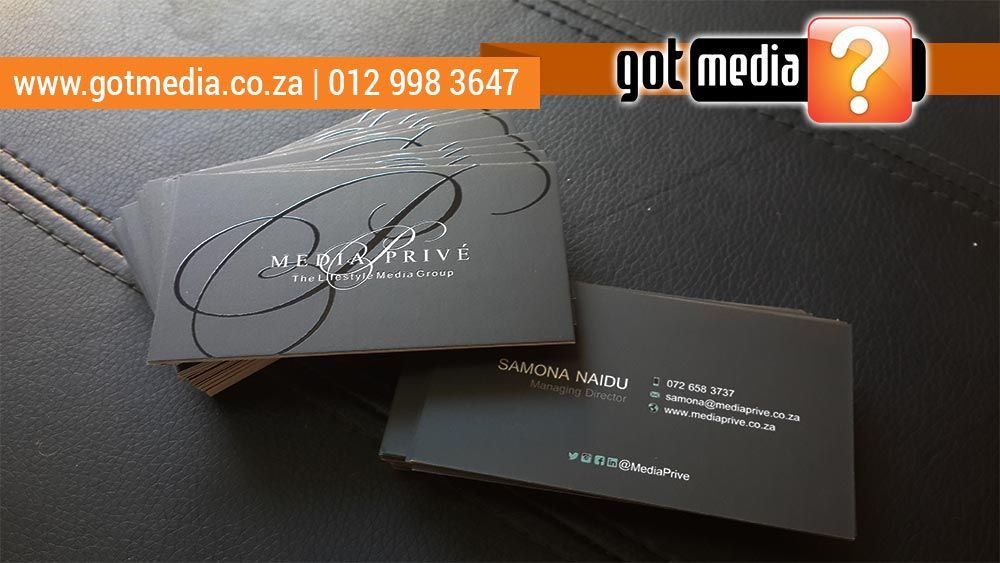 Media Prive - Spot Varnish Business Card Print done by Gotmedia info ...