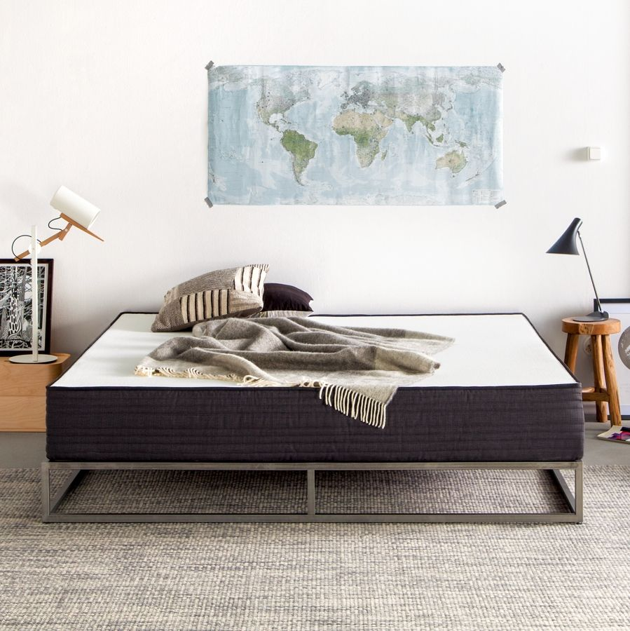 Bettgestell Smood Metall Anthrazit 140 X 200cm Bedroom