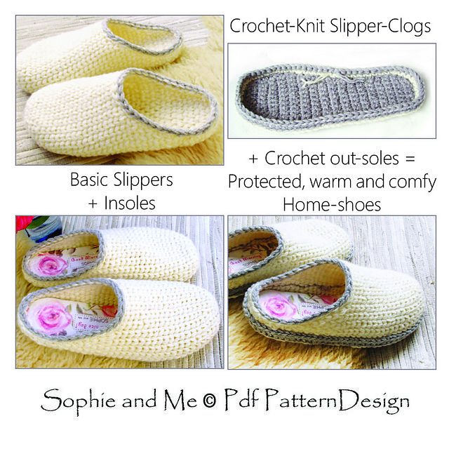 Slipper-Clogs pattern by Sophie and Me-Ingunn Santini | Zapatos ...