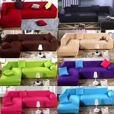 Fashion L Shape Stretch Elastic Fabric Sofa Cover Sectional