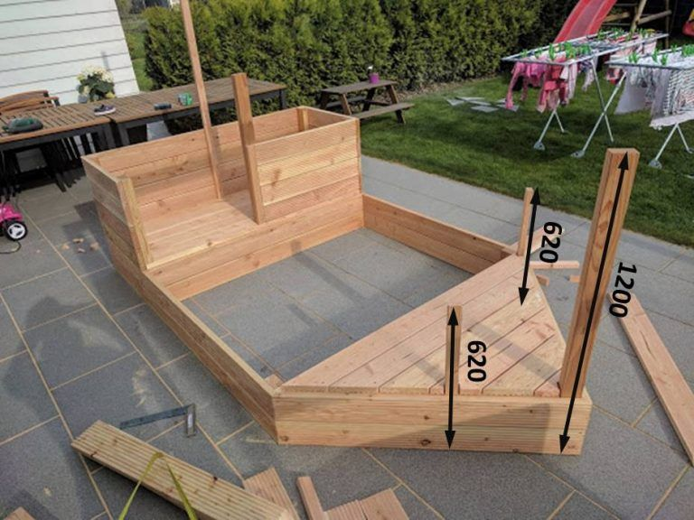 diy piratenschiff sandkasten garten pinterest sandkasten piraten schiff und garten. Black Bedroom Furniture Sets. Home Design Ideas