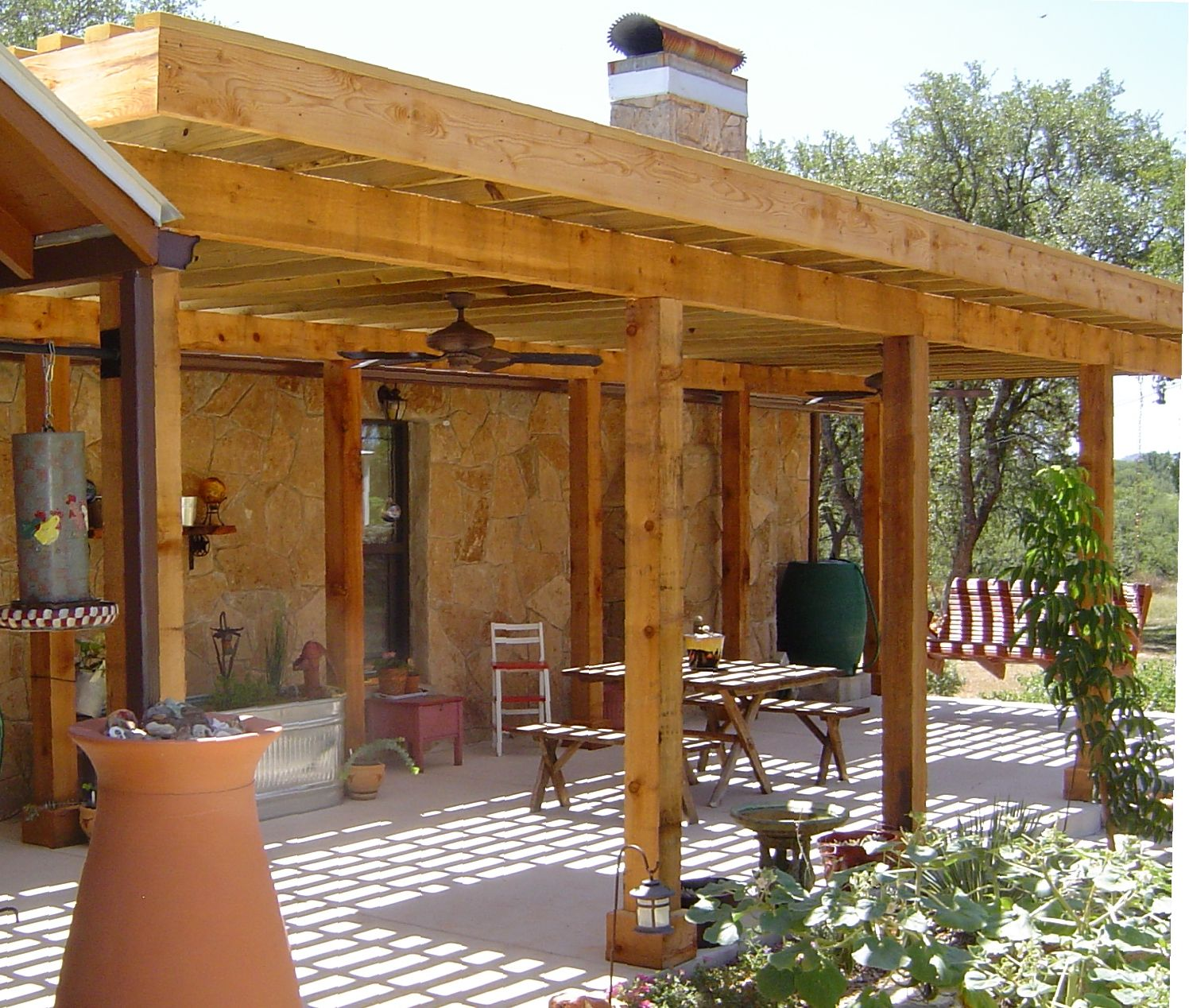 Perfect pergola for a tx hill country home we can build for Southwest pergola