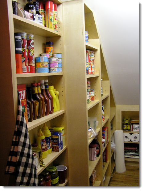 Under stairs pantry by Aloha Home Builders Closet Pantry