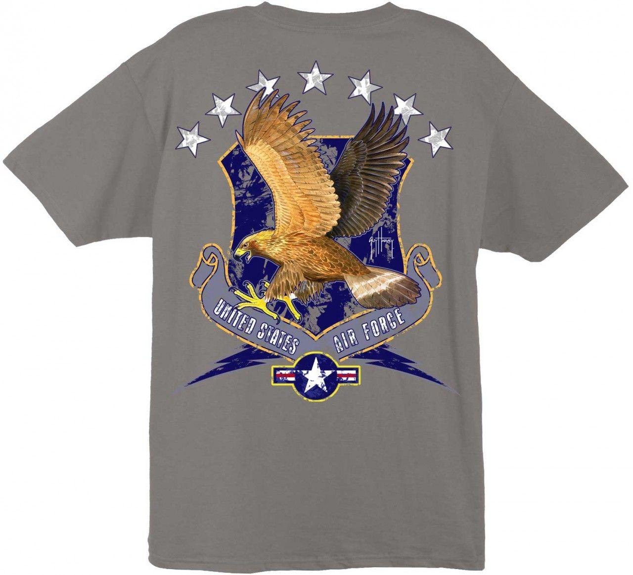 Guy Harvey U.S. Air Force Men's BackPrint Tee w/ Pocket