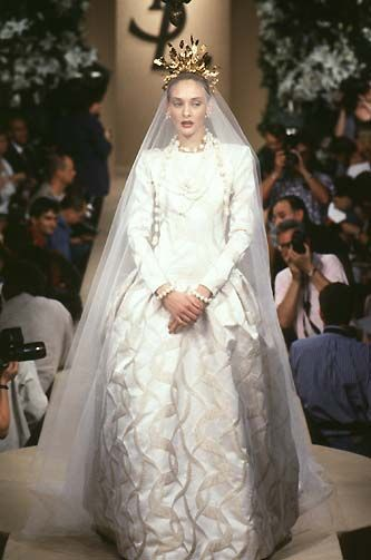 Ysl Couture Fall 1997 Saint Lau Paris Hedi Slimane White Wedding Gowns