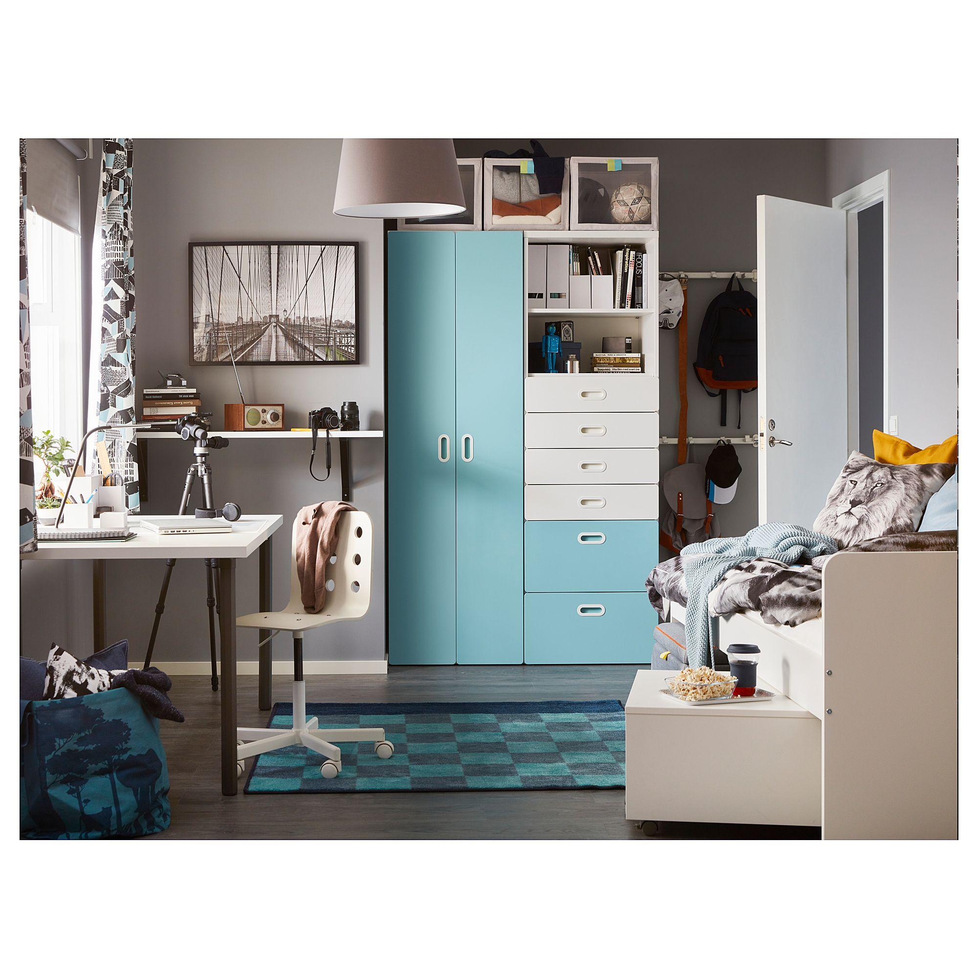 IKEA STUVA / FRITIDS White, Light Blue Wardrobe | Kids ...