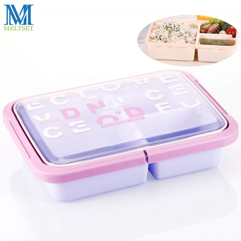 Japan Style Bento Box Microwave Oven Plastic Food Container 3