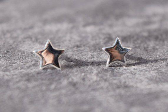 offizieller Preis wie man kauft ziemlich cool mm Stern groß, Sternenohrstecker, 925 Sterling Silber ...