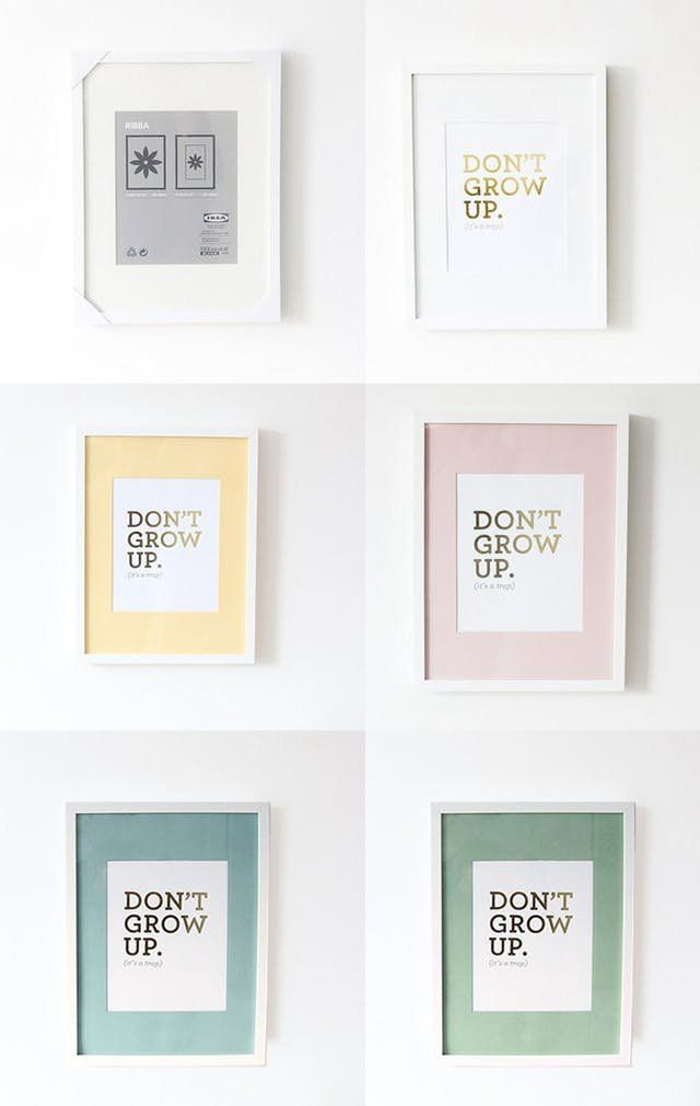 7 Ways To Upgrade Ikea Picture Frames Tips Ideas Pinterest