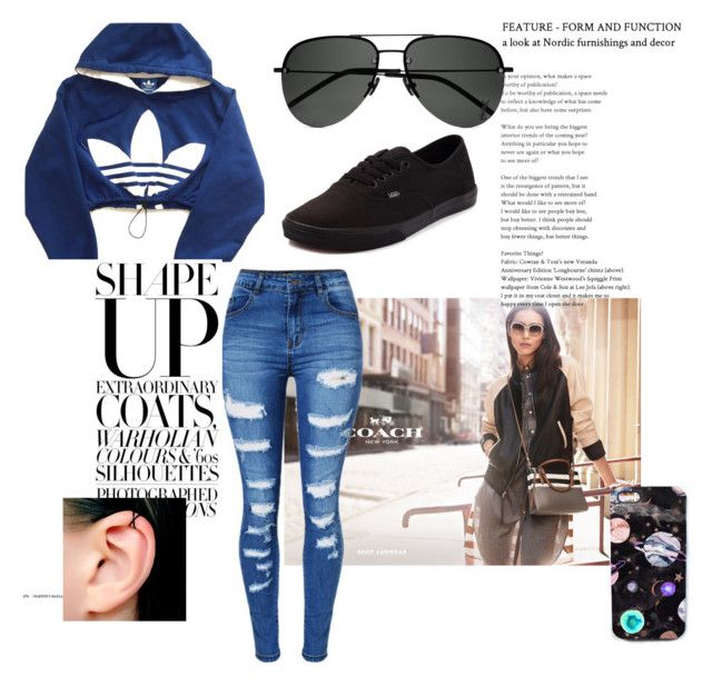 """""""Untitled #146"""" by selma-97 ❤ liked on Polyvore featuring adidas, WithChic, Vans, Yves Saint Laurent and Nikki Strange"""