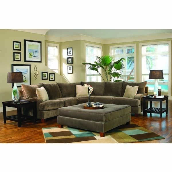 Superior Peanut Butter Cup 2 Piece Sectional With Oversized Cocktail Ottoman   Mealeyu0027s  Furniture