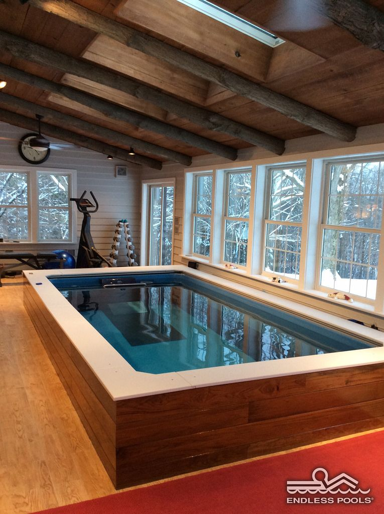 A Farmhouse Endless Pool 174 In 2019 Indoor Swimming Pools