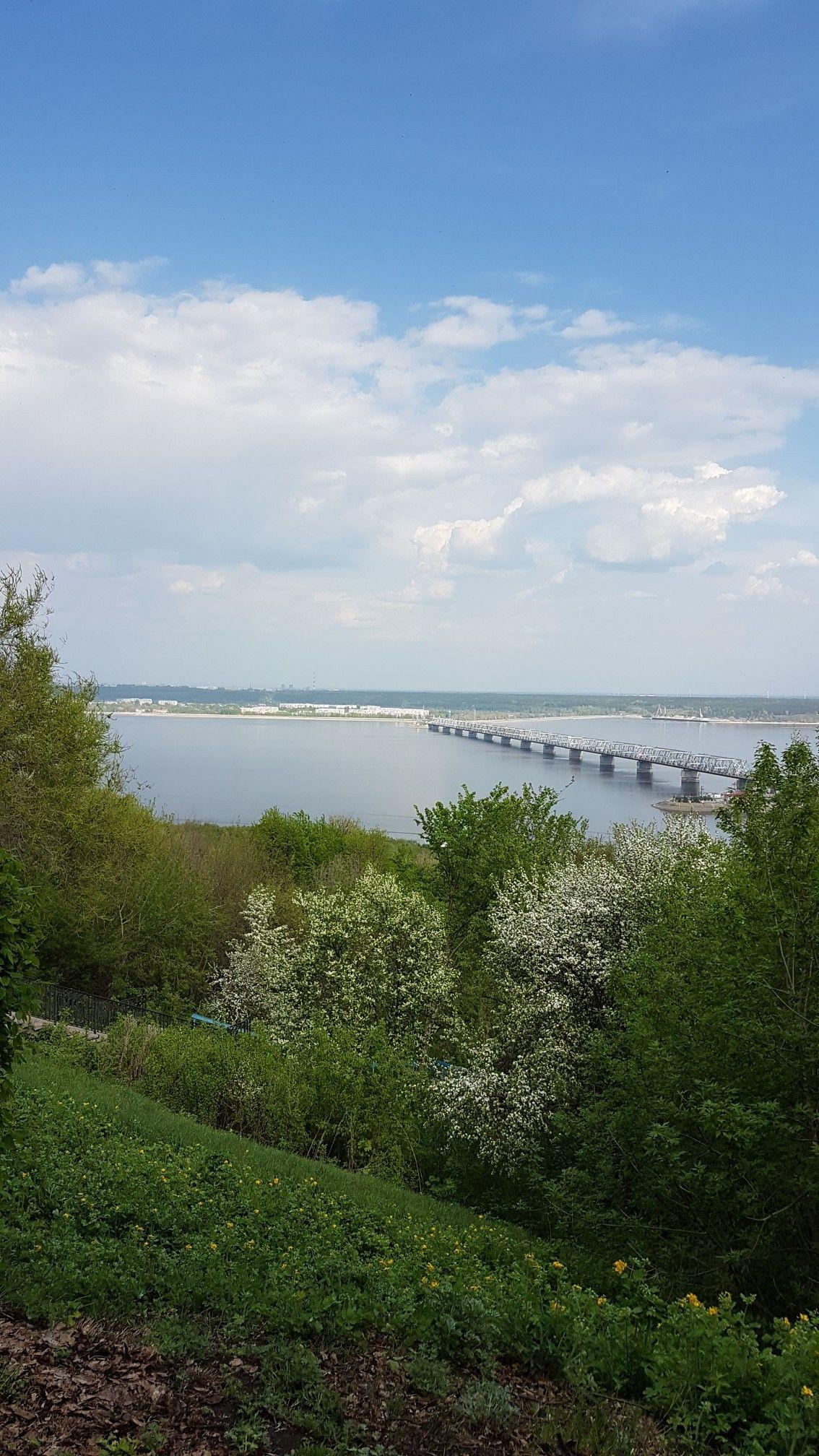 Ульяновск, Россия. Река Волга. Ulyanovsk, Russia. Volga ...