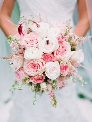Pink rose bridal bouquet  by http://www.firesideflowers.com/ | photography by http://www.ariellephoto.com/