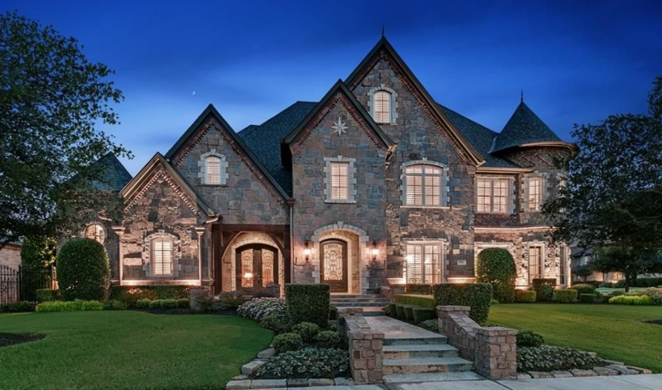 European Inspired Brick Stone Home In Colleyville Tx Dream House Exterior Stone Houses Luxury Homes Dream Houses