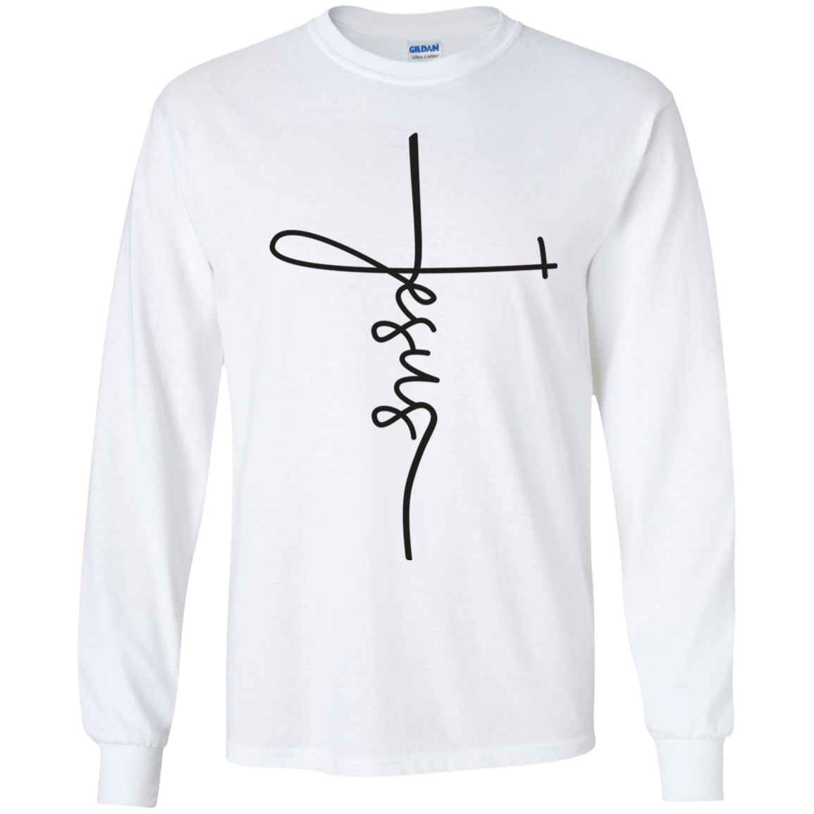 Cross Jesus FaithBox Designs Kids Long Sleeve TShirt