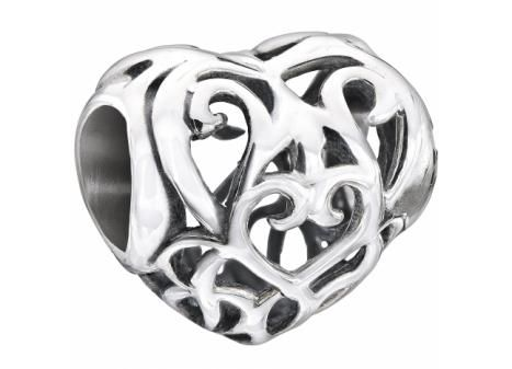 CHAMILIA® HEART FILIGREE BEAD