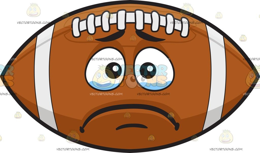 A Crying Football Black Brows Black Eyebrows Emoji Clipart