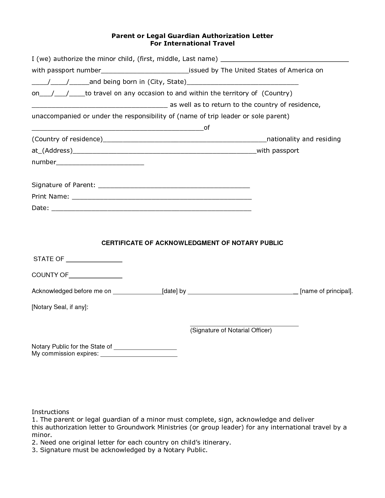Affidavit Of Facts Template Letter Example Legal Guardianship Sample And Forms  Personal .