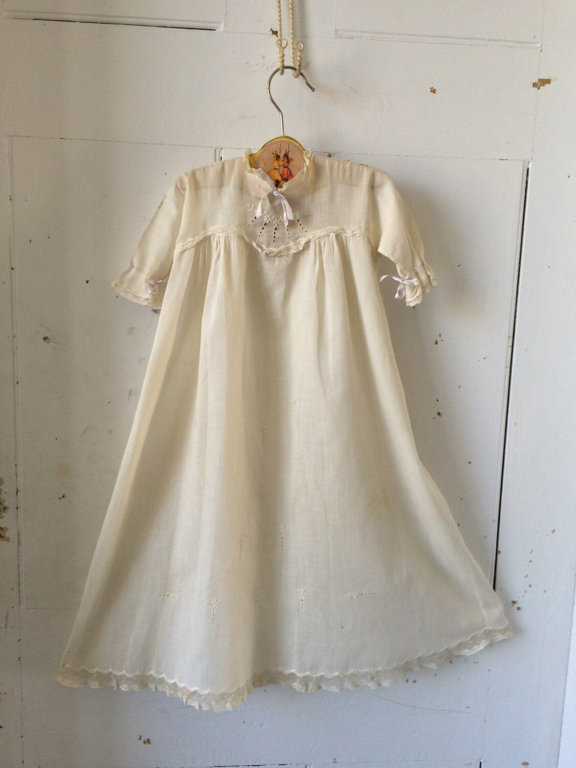 French Knotted Roses Smocked Nightie | Victorian Nightgown
