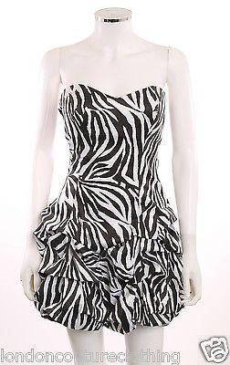 Zebra Print Party Dresses for Juniors