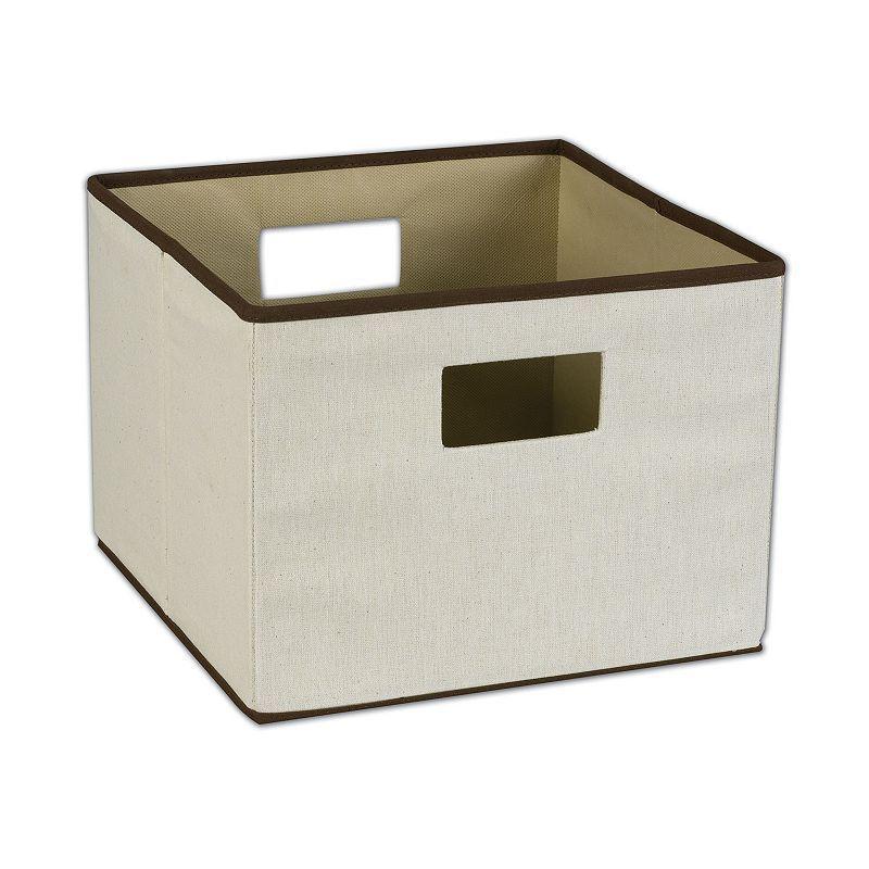 Household essentials open storage bin beiggreen beig