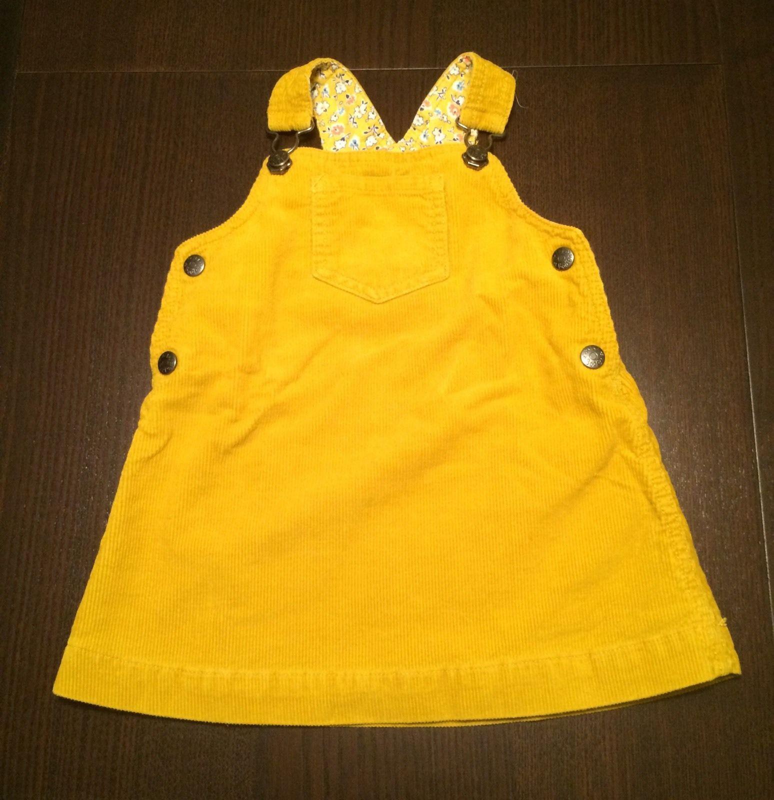 Baby Boden Wunderschones Kleid Gr 80 86 12 18 Mon Cord Latzkleid