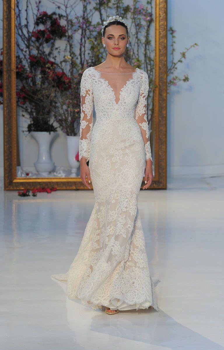 Anne Barge Spring 2017 Long Sleeve Wedding Dress | I take you #weddingdress #bridalgown