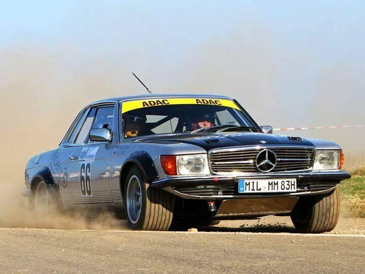 W 107 Rally car Vintage Mercedes Benz race cars