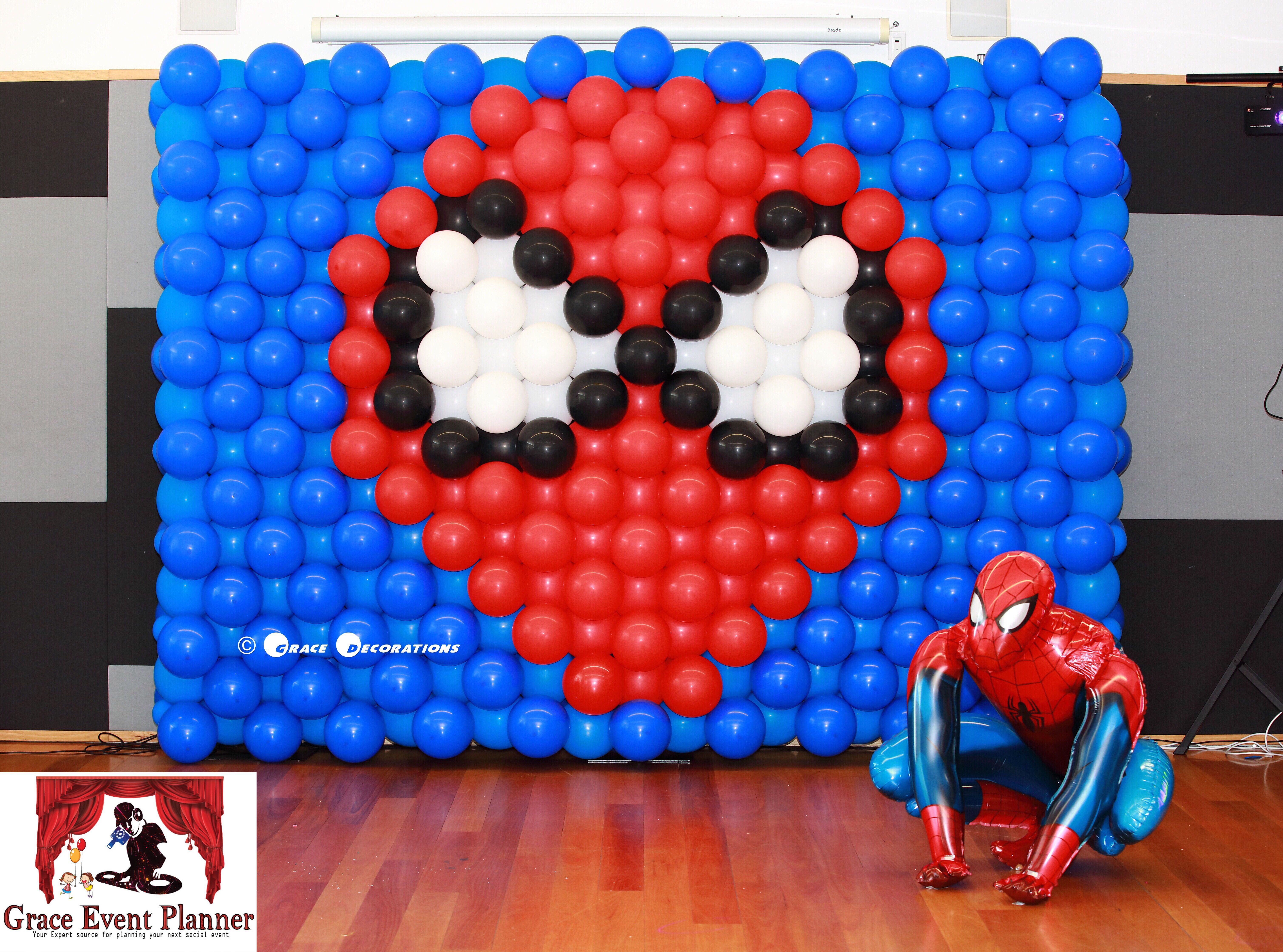 Spiderman Balloon Wall Spiderman Kids Themed Party Spiderman