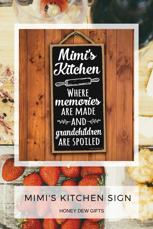 Mimi S Kitchen Where Memories Are Made 5 X 10 Inch Family Sign