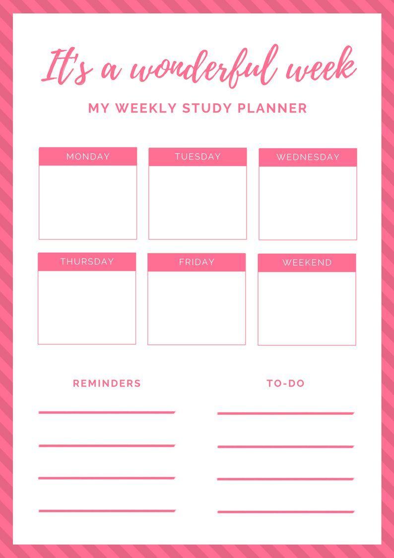 october 2018 printable study planner 2018 calendars pinterest