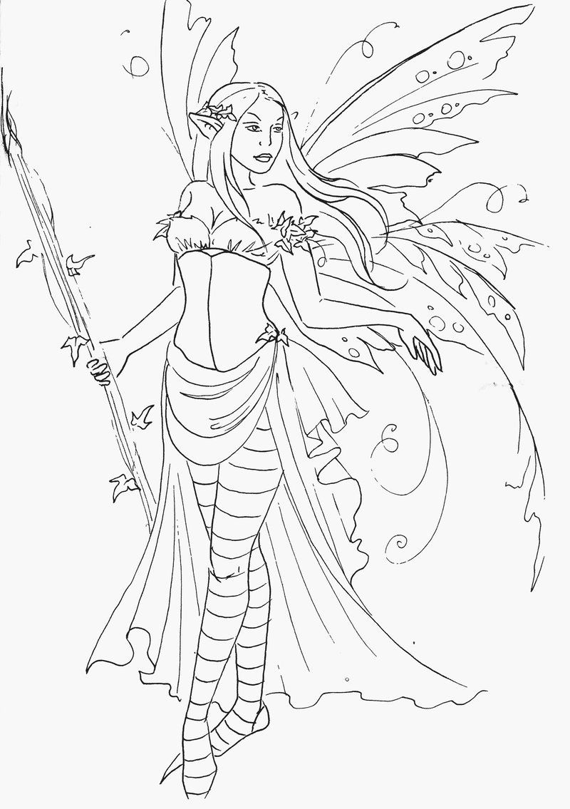 Fairy Queen Lineart Fairy Coloring Pages Coloring Book Art Fairy Coloring