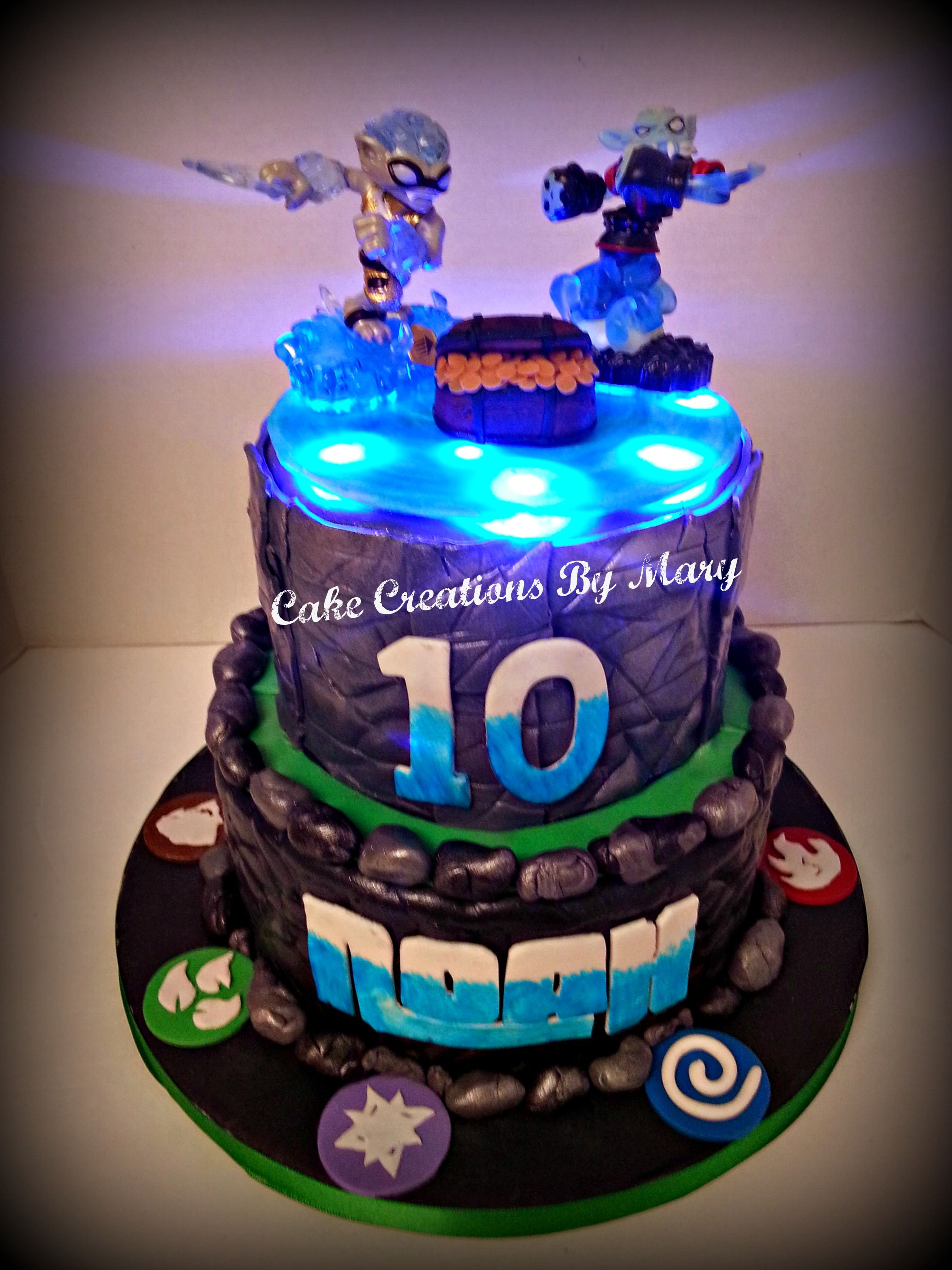 Sensational Light Up Skylanders Cake Make A Skylanders Swap Force Portal Of Funny Birthday Cards Online Inifofree Goldxyz