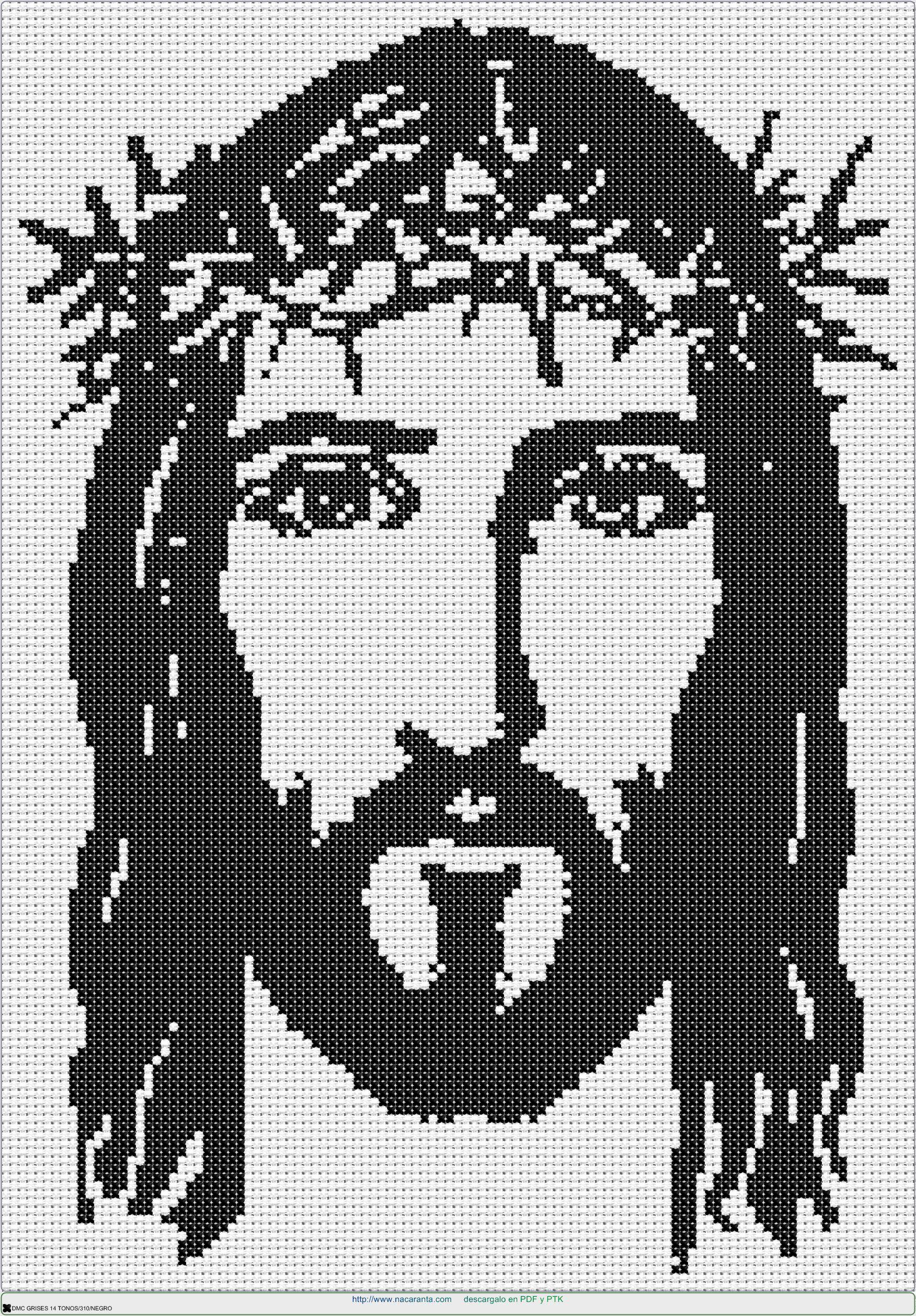 cara cristo EN PUNTO DE CRUZ, Cross stitch patterns | Labores punto ...