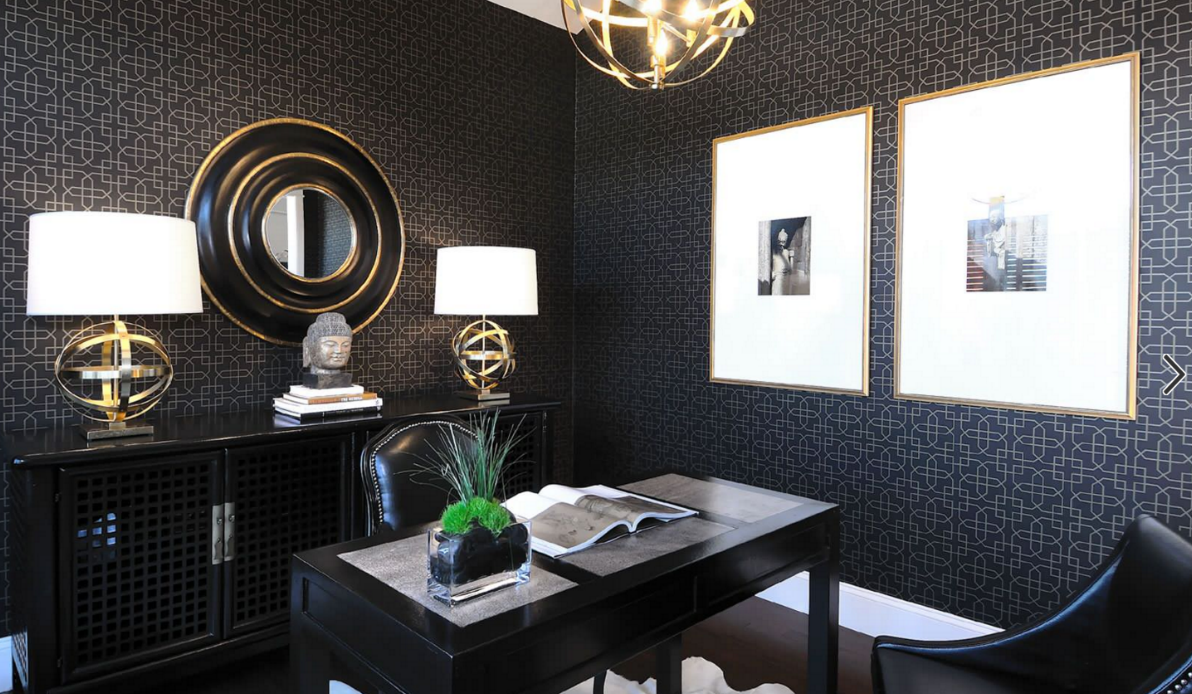 Classic black white and gold interiors hotpads blog blog