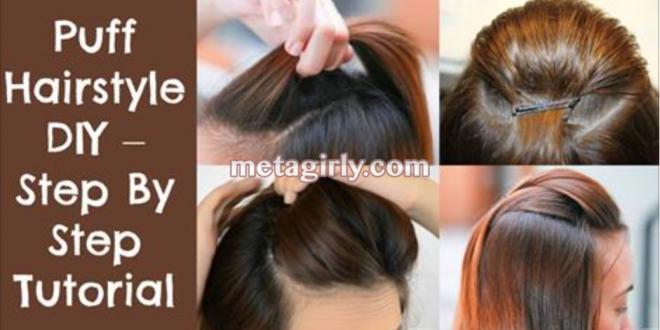 Diy Puff Hairstyle Step By Step Tutorial Hair Puff Hairstyle Diy Hairstyles
