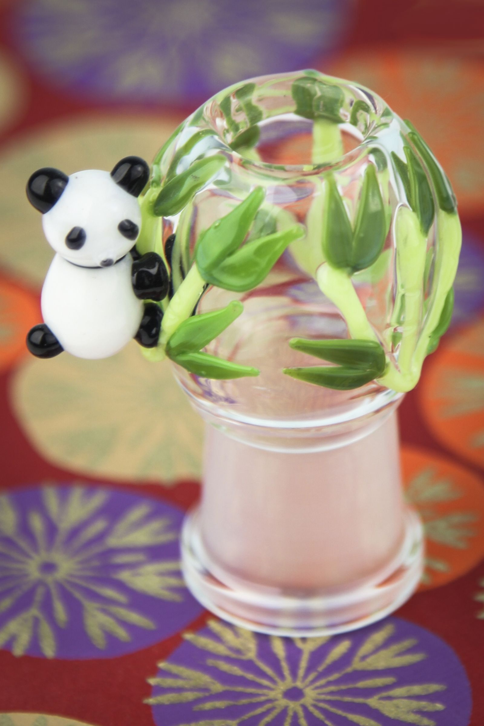 Adorable Panda Buddies Bowl with built in glass screen from