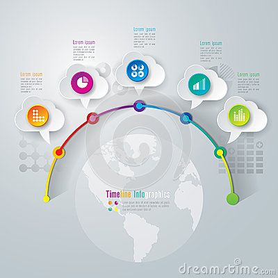 Timeline Infographics Design Template Línea Del Tiempo - Timeline design template