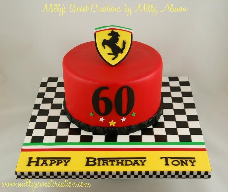 Ferrari Cake Ferraricake002g Race Car Birthday Pinterest