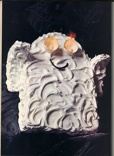 Ghost Cake With Flaming Eyes Kid Stuff Ghost Cake