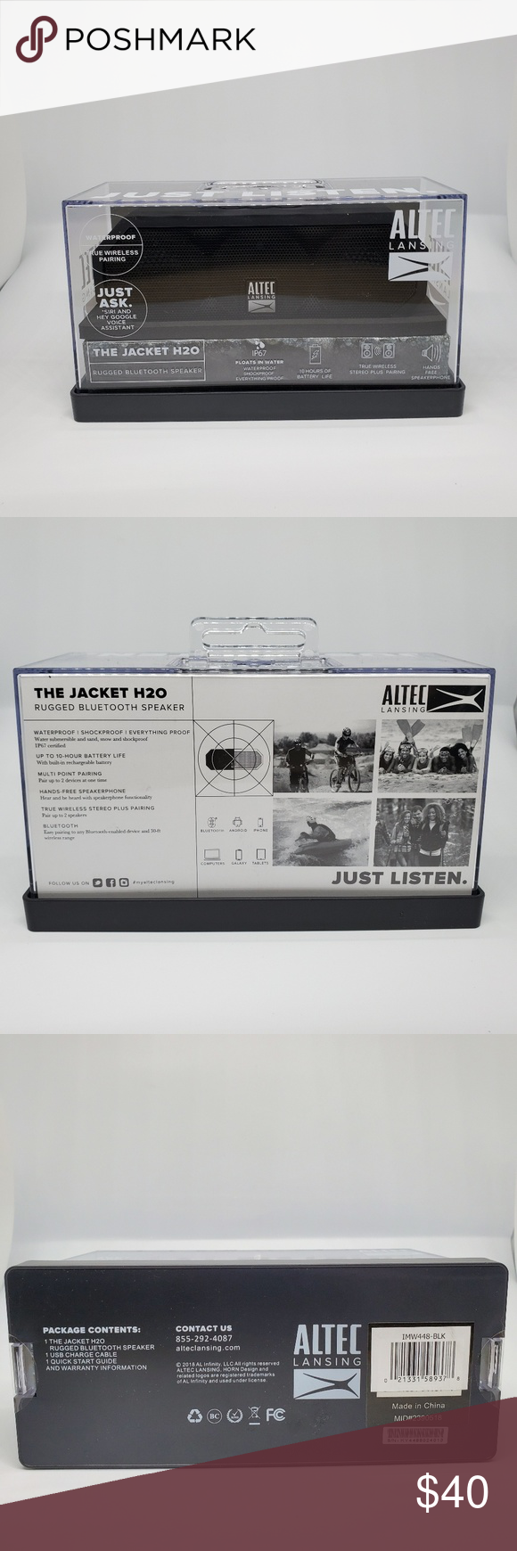 Altec Lansing Mini Lifejacket H2o Black Bt Speaker Speaker Altec Altec Lansing