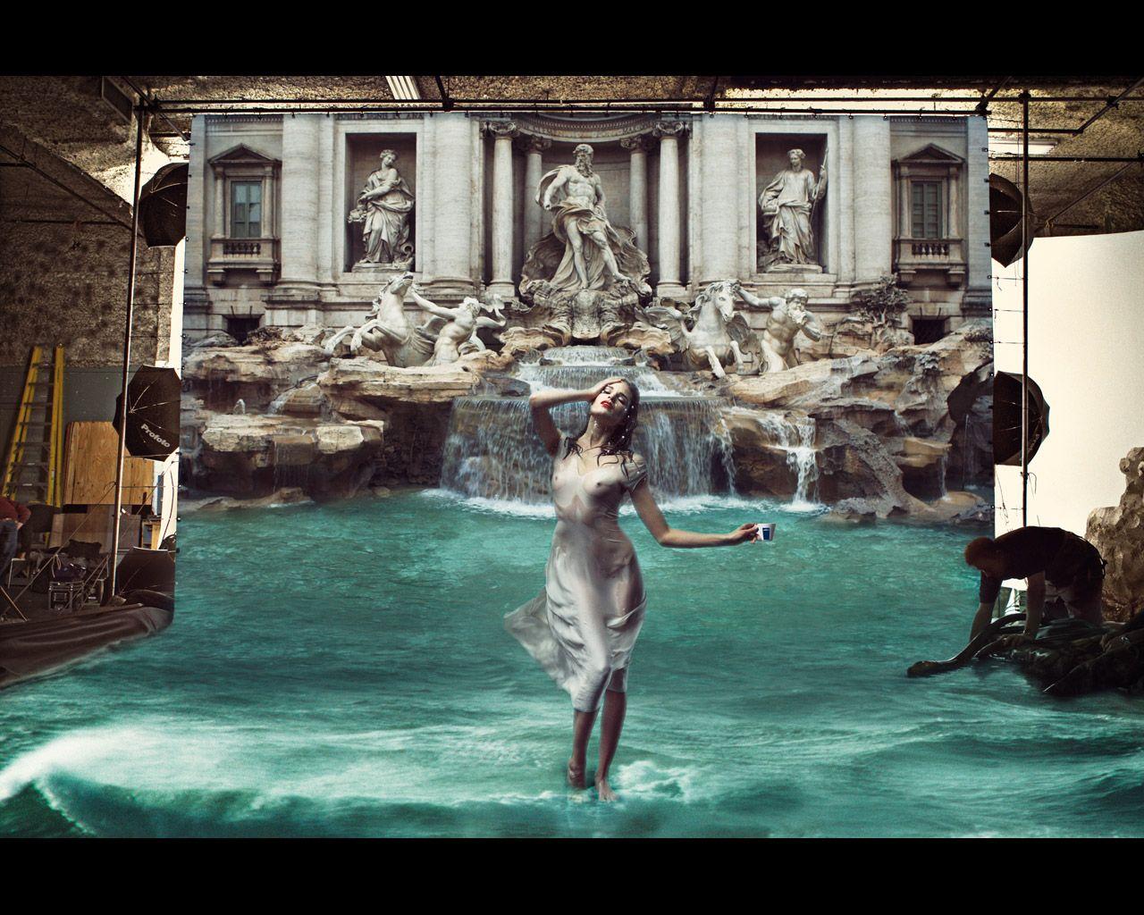 Bildergebnis für Annie Leibovitz lavazza fuente di trevi