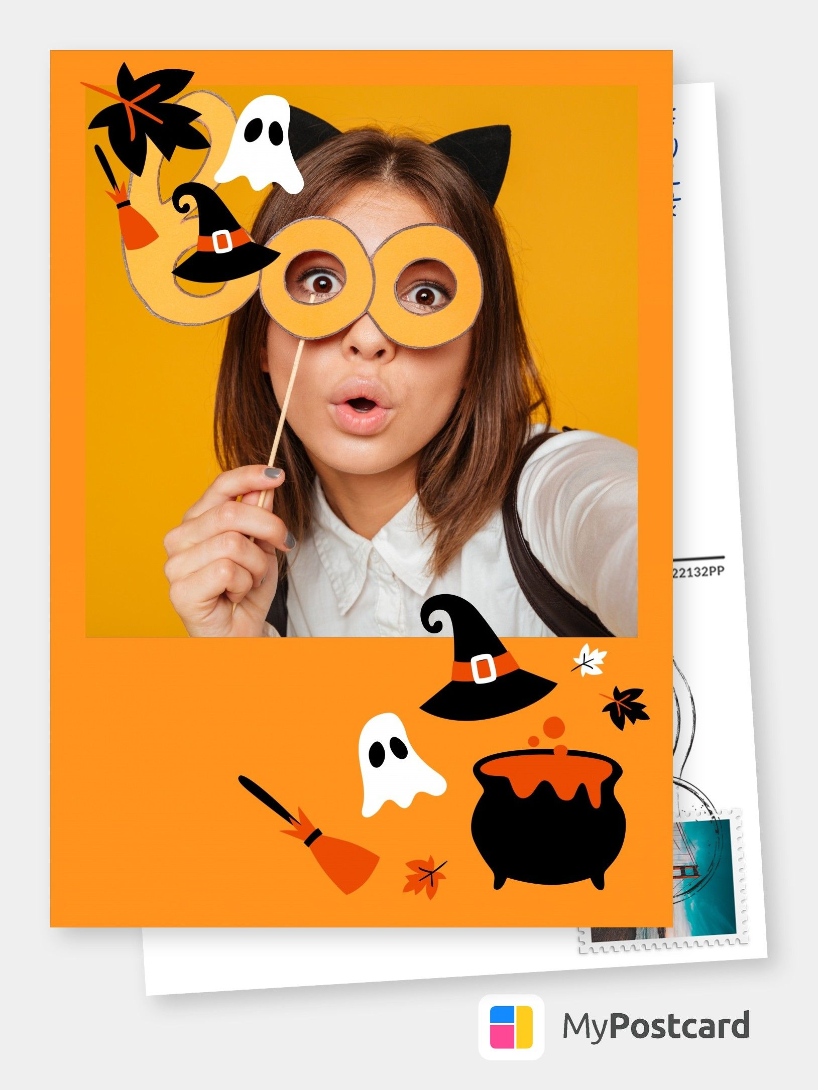 Mypostcard Over 50 000 Postcards And Greeting Cards Templates Designs And Ideas For Any Occasion Online Halloween Cards Halloween Wallpaper Cute Halloween Greetings