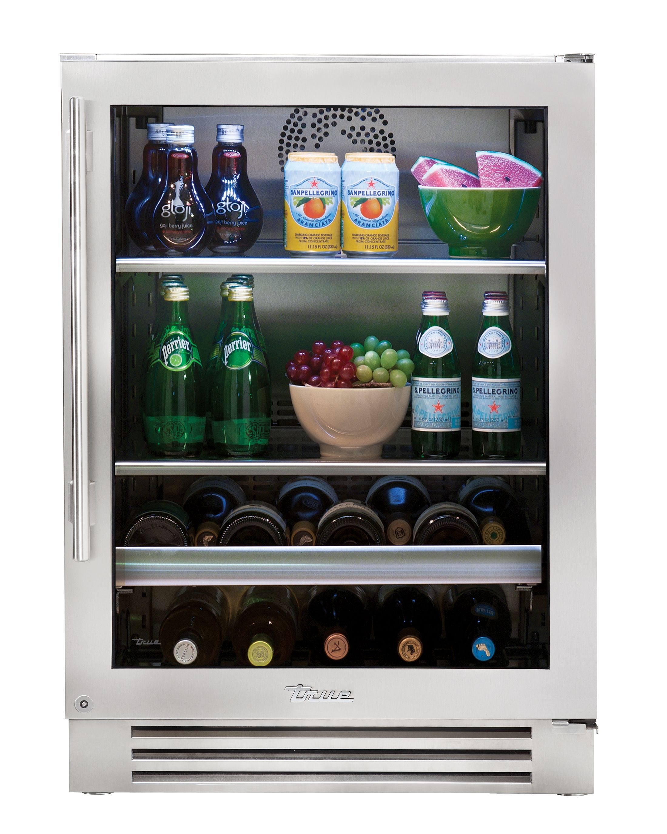 "True 24"" Beverage Center Stainless Glass Door"