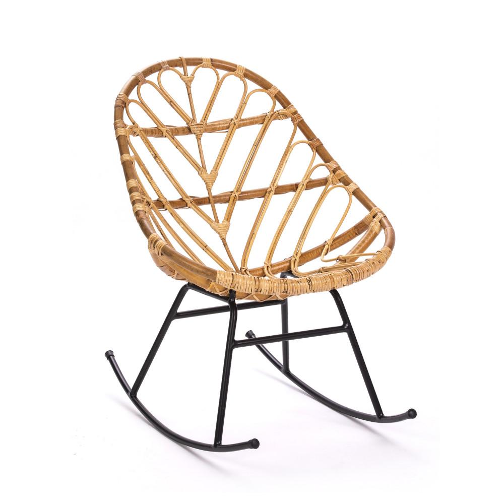 Ette Rocking Chair En Rotin Chaise A Bascule Fauteuil Rotin Chaises Retro