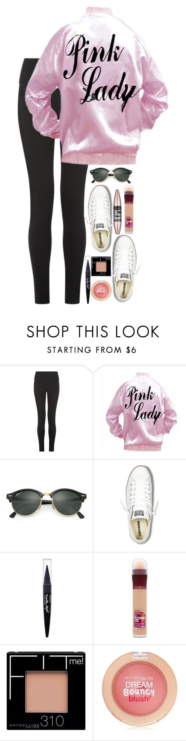 """""""What r y'all being for Halloween?"""" by evedriggers ❤ liked on Polyvore featuring Ray-Ban, Converse, Maybelline and L'Oréal Paris"""