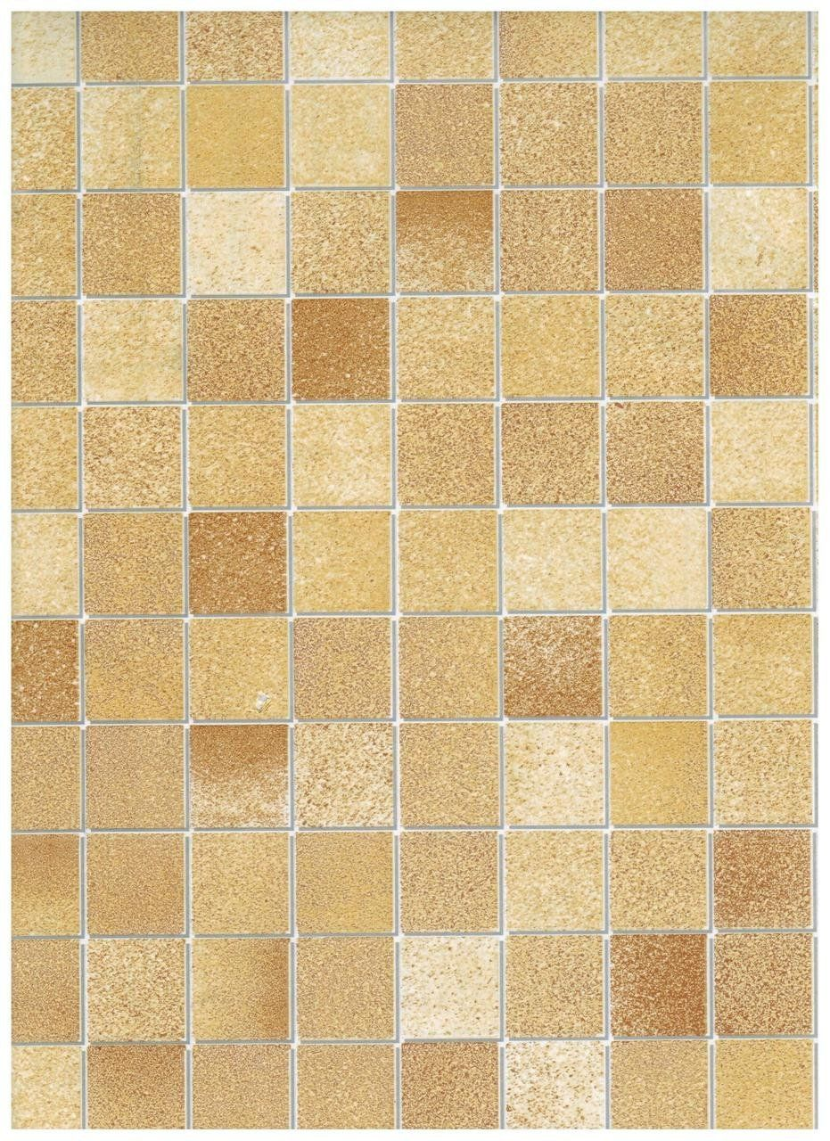 Interior Place 271 Tile Stone Tan Mosaic Contact Paper