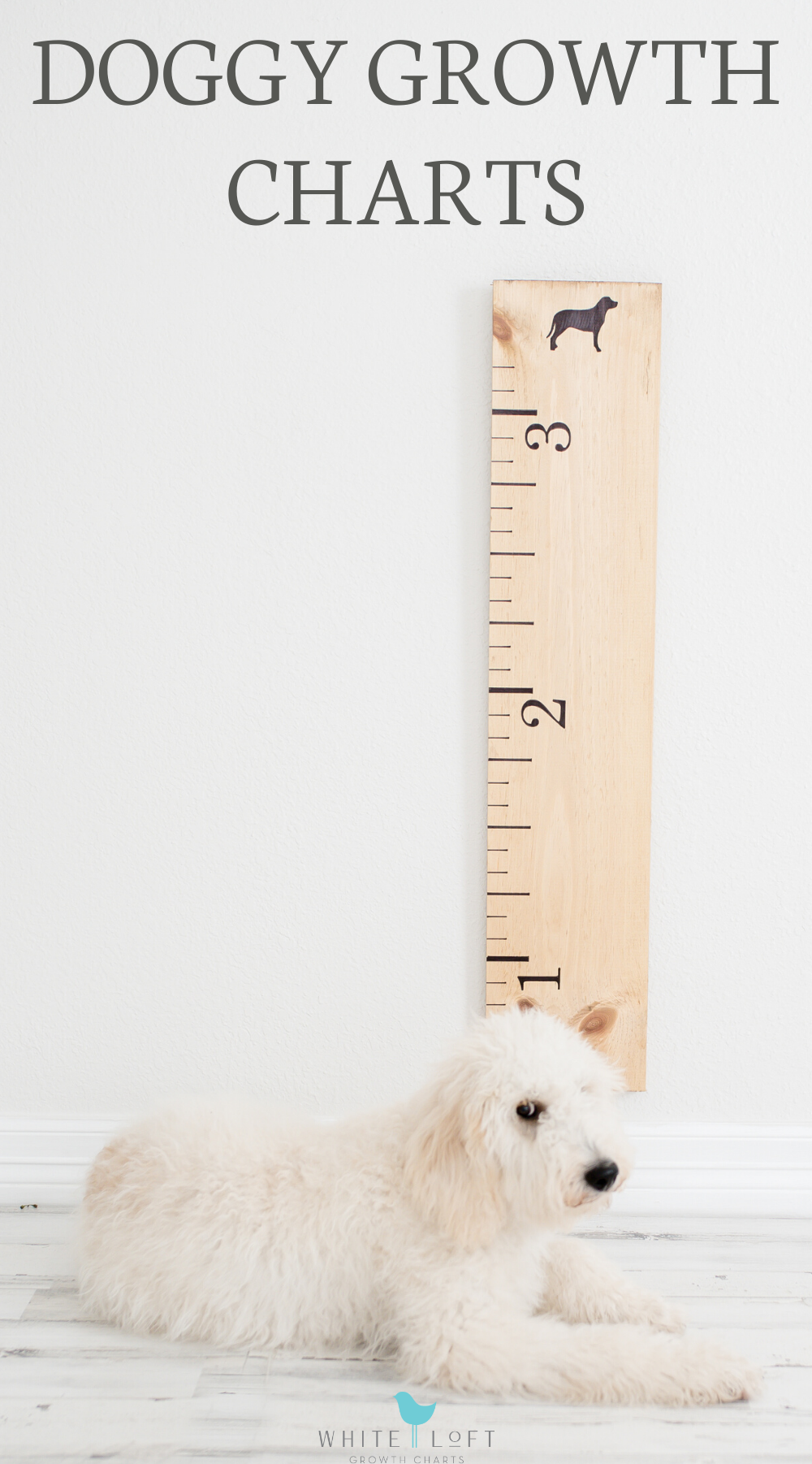 Wooden Growth Chart For Dogs In 2020 Wooden Growth Chart Dog